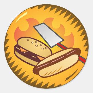 Cookout emblem round sticker