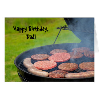 Cookout for Dad's Birthday Card