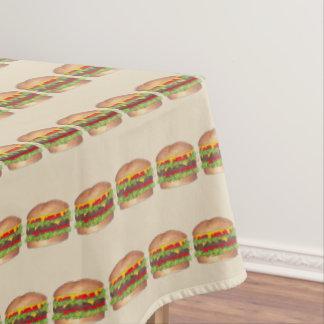 Cookout Hamburger Burger Cheeseburger Fast Food Tablecloth