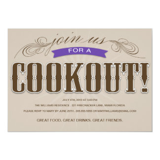 COOKOUT | SUMMER PARTY INVITATION