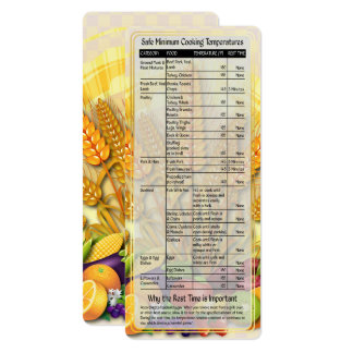 Cook's Helper-Safe Cooking Temps Card #1