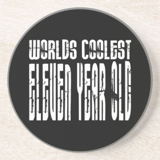 Cool 11th Birthdays Worlds Coolest Eleven Year Old Beverage Coaster