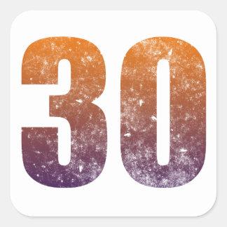 Cool 30th Birthday Gift Square Sticker