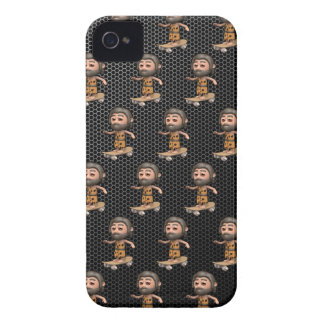 Cool 3d Caveman Skateboarding iPhone 4 Cases