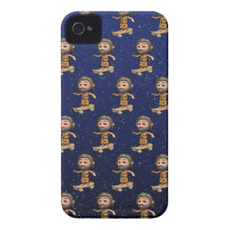 Cool 3d Caveman Skateboarding iPhone 4 Covers