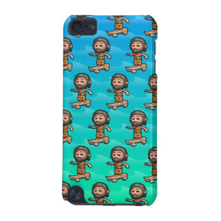 Cool 3d Caveman Skateboarding iPod Touch (5th Generation) Covers