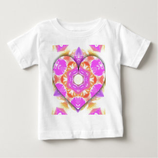 Cool 3d Heart lavender Peach Patterns Baby T-Shirt
