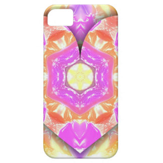 Cool 3d Heart lavender Peach Patterns Case For The iPhone 5