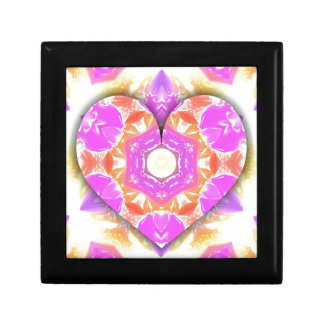 Cool 3d Heart lavender Peach Patterns Gift Box