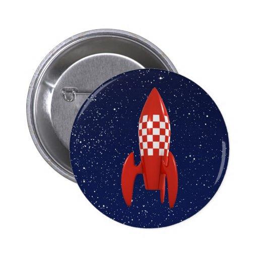 Cool 3d Retro SciFi Space Rocket Pins