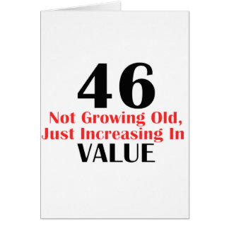 COOL 46 YEARS OLD BIRTHDAY DESIGNS CARD