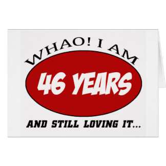 cool 46 years old birthday designs greeting card