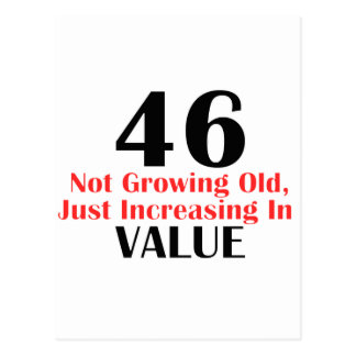 COOL 46 YEARS OLD BIRTHDAY DESIGNS POSTCARD
