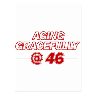 cool 46 years old gifts postcards