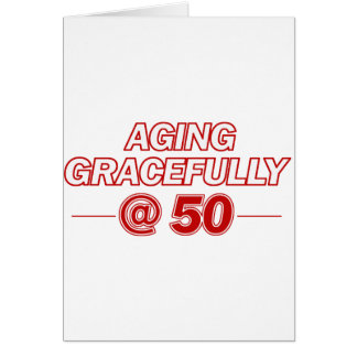 cool 50 years old gifts greeting card