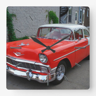 Cool 56 Chevy Options Wall Clock