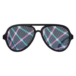 Cool 80s Laser Light Show Background Retro Neon Aviator Sunglasses
