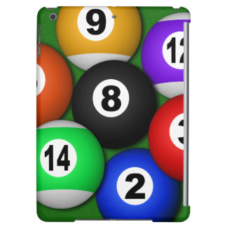 Cool 8 Eight Ball Pool Balls Billiards Manly iPad Air Cases