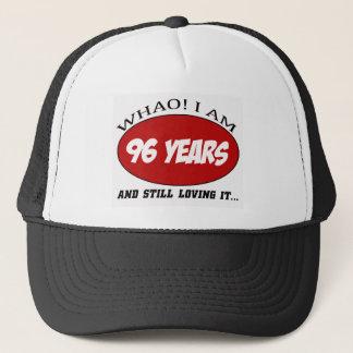 cool 96 years old birthday designs trucker hat