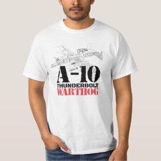 Cool A-10 Thunderbolt Warthog Aircraft Schematic T-Shirt