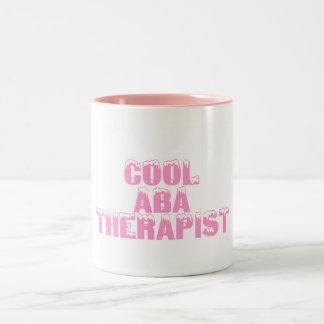 Cool ABA Therapist (Pink) Two-Tone Coffee Mug