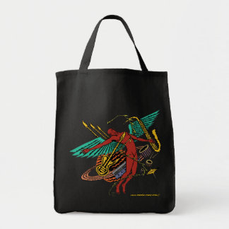 Cool abstract art music bag design