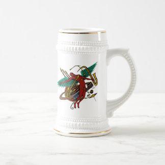 Cool abstract art rock music beer mug