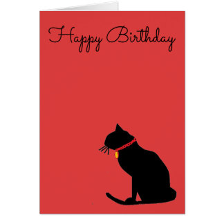 Cool Abstract Cat Birthday Card