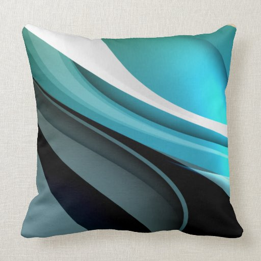 Cool abstract colourful vector aqua curve zazzle for Cool couch pillows