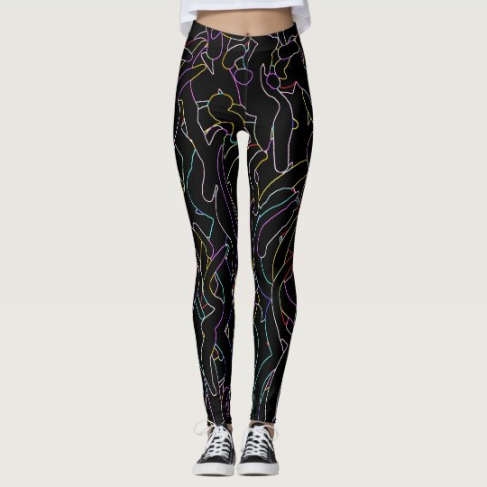 Cool abstract design leggings