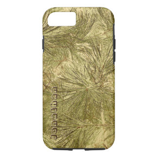 cool abstract evergreen needles camouflage iPhone 8/7 case