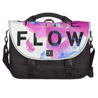 Cool Abstract Motivational Quote THE FLOW Laptop Computer Bag
