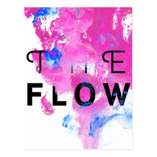 Cool Abstract Motivational Quote THE FLOW Postcard