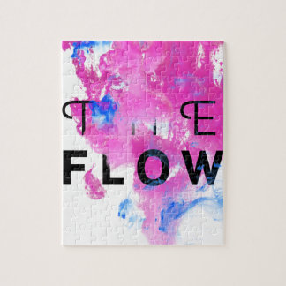 Cool Abstract Motivational Quote THE FLOW Puzzle