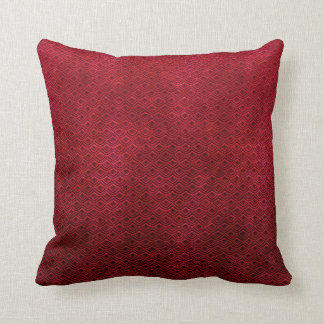 Cool  abstract  oriental red scale pattern  pillow