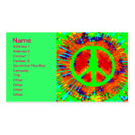 Cool Abstract Psychedelic Tie-Dye Peace Sign Pack Of Standard Business Cards