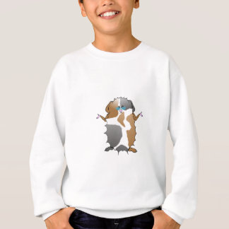 Cool Abyssinian Guinea Pig in Sunglasses Sweatshirt