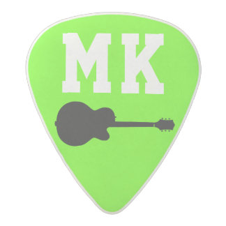 cool acid neon green rock guitar pick