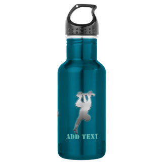 Cool Add Text Funky Metal Skater Bottle