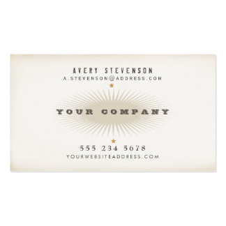 Cool Aged Vintage Style Elegant Typography Hip Business Card Template