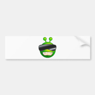 Cool Alien with glasses Bumper Sticker