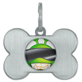 Cool Alien with glasses Pet ID Tag