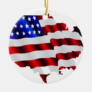 Cool America, US/USA, SAD flag, Sochi games Round Ceramic Ornament