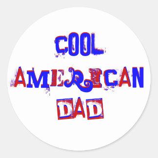 Cool American Dad III Classic Round Sticker