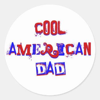 Cool American Dad IV Classic Round Sticker