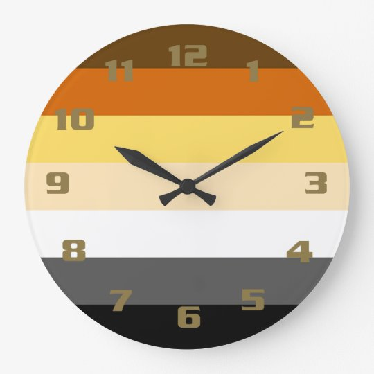Cool and Classic Bear Pride Flag Clock