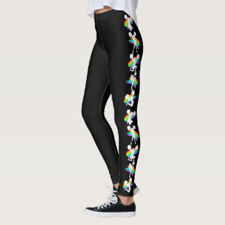 COOL AND COLORFUL CHEERLEADER LEGGINGS