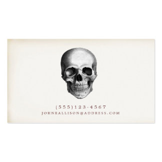 Cool and Creepy Rustic Skull Calling Card Pack Of Standard Business Cards