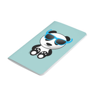 Cool and cute panda bear with sunglasses journal