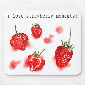 Cool and cute Strawberry mousepad